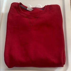 FRUIT OF THE LOOM Oversized Red Crewneck